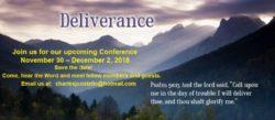 Nov 30 – Dec 2 Healing & Deliverance Conference Schedule (MOS)
